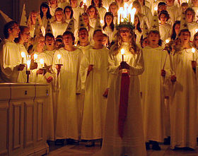 Lucia celebration. Photo courtesy of Wikipedia.